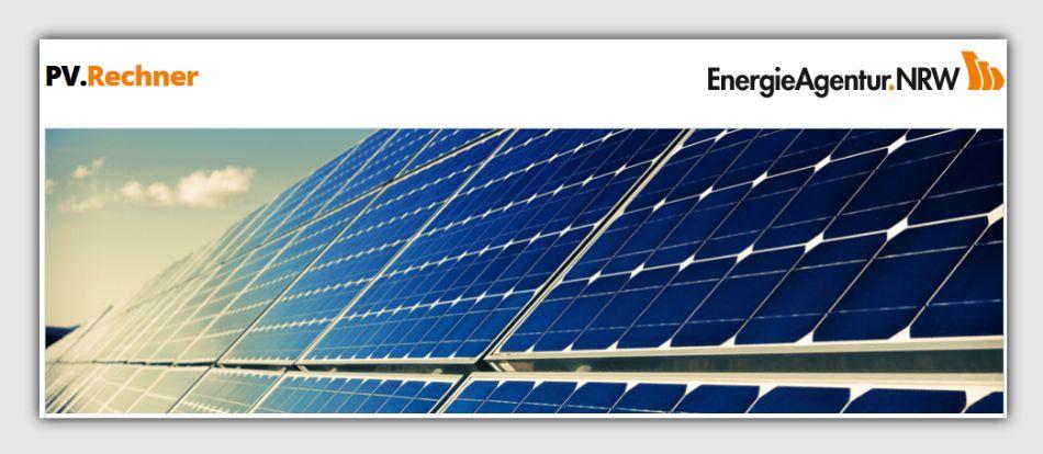 PV-Rechner der Energieagentur NRW